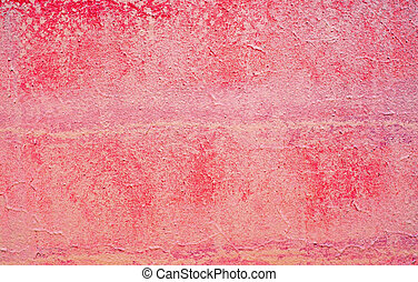 Plastered red-purple wall as an abstract background