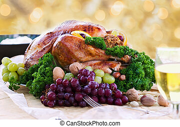 Roasted turkey for the holidays - Roasted turkey on holiday...