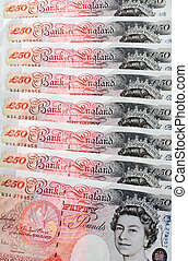 Fifty Pound Notes - Great Britain