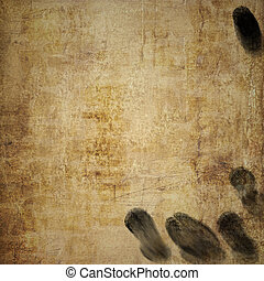 Grunge Background with Oily Fingerprints - Dirty looking...