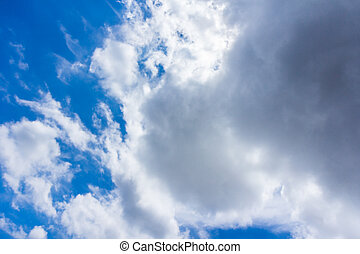 Sunny day Blue Sky with clouds