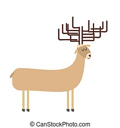 deer cartoon. Vector illustration