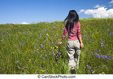 girl - the girl in the meadow outdoor