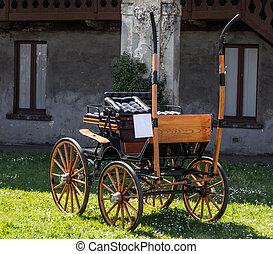 Carriage - The old colored carriages with their...