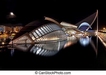 Hemisferic, Museo and the Agora - VALENCIA, SPAIN - November...