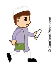 Indian Cartoon Politician Character - Walking Indian Cartoon...