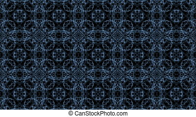 Kaleidoscopic pattern with water - Dark blue kaleidoscopic...