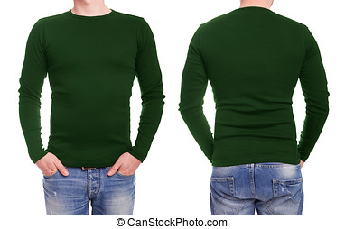Young man with green t shirt