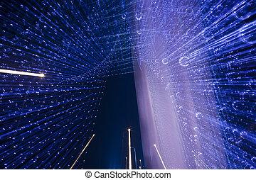 bridge night - the night view of the bridge nanchang jiangxi...