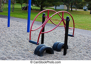 Teeter Totter in the playground. - Teeter Totter in the...