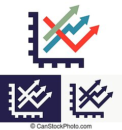 Chart options vector icons
