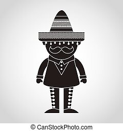 mexican man design, vector illustration eps10 graphic