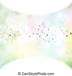 Abstract molecule ligh colors background