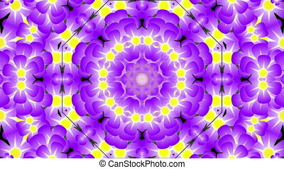 Kaleidoscope with violet flowers