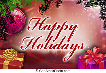 Happy holidays wishes with background