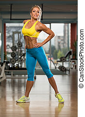 Portrait Of Sexy Mature Woman In Fitness Center - Portrait...