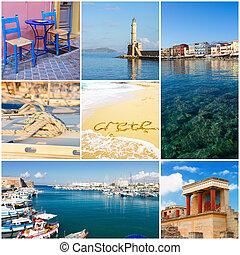 Crete collage, Greece