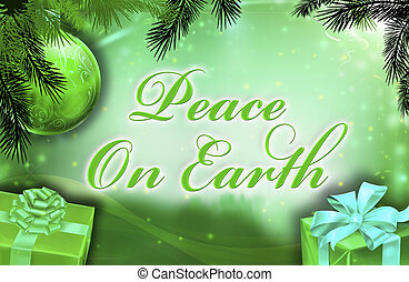 Peace on earth wishes with background