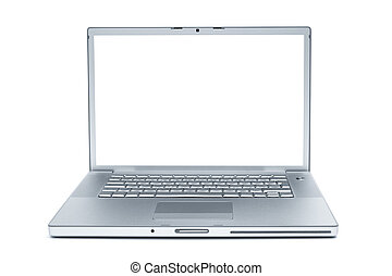 Modern laptop - Modern and stylish laptop on a white...