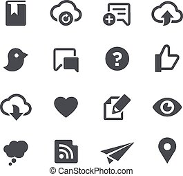 Social Sharing Apps Interface - Vector icons for your web or...