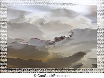 Abstract fantastic grey landscape - Abstract expressionism,...