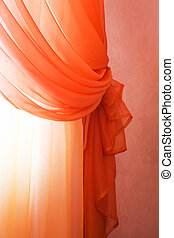 translucent red curtains - Beautiful translucent red...