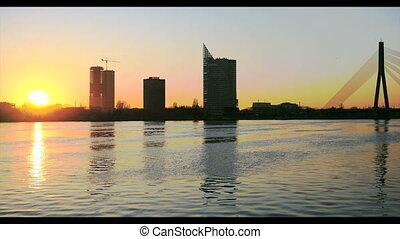 Sunset timelapse in Riga