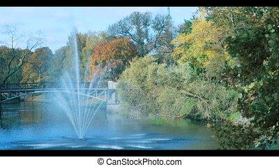 Fountain  in the park of Riga,
