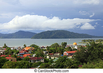 Kota Kinabalu cityview. Kota Kinabalu city is the capital of...