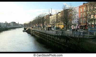 Riverside buildings in Dublin