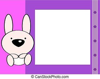 cute baby bunny picture frame