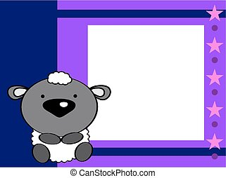 cute baby sheep picture frame