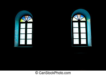 windows in the dark