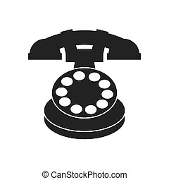 retro telephone design, vector illustration eps10 graphic
