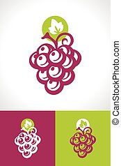 Grape and Vine Icon