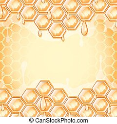 honey honeycomb - abstract background, honey honeycomb ,...