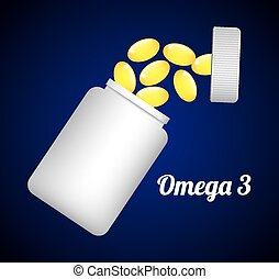 omega 3 design, vector illustration eps10 graphic