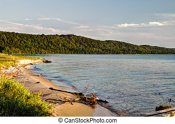 Lake Superior Coast - Shore of Lake Superior along the...
