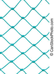 Soccer Football Goal Post Set Net Rope Detail, New Green...