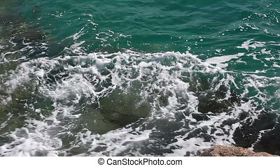 clear sea water close up