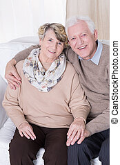 Falling in love in old age - Happy people falling in love in...