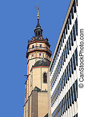 Nikolaikirche Leipzig Germany - the belltower of the...