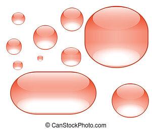 naranja, agua, burbujas