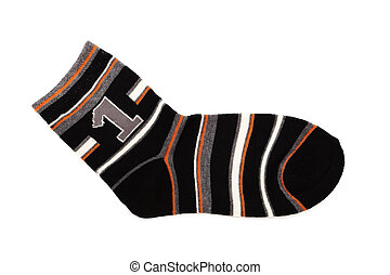 warm sock - warm and beautiful to sock on a white background...