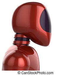 Cyborg futuristic robot concept red - Red cyborg futuristic...