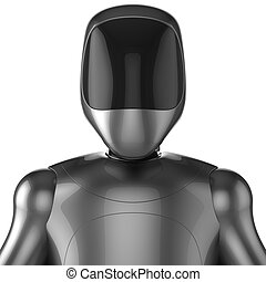 Cyborg robot android futuristic character concept 3d render...