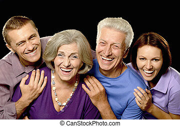 portrait with senior parents - Portrait of a cute family...