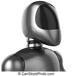 Robot android futuristic cyborg character concept 3d render