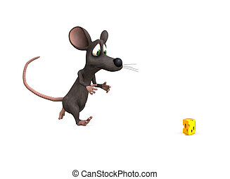 mouse chase - a mouse races towards the perfect prize,...