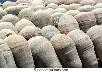 Pisco Amphoras - Amphoras used in the production of pisco...
